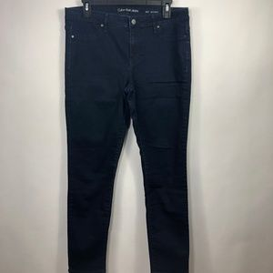 Calvin Klein Jeans Dark Blue Wash Denim Jegging 31